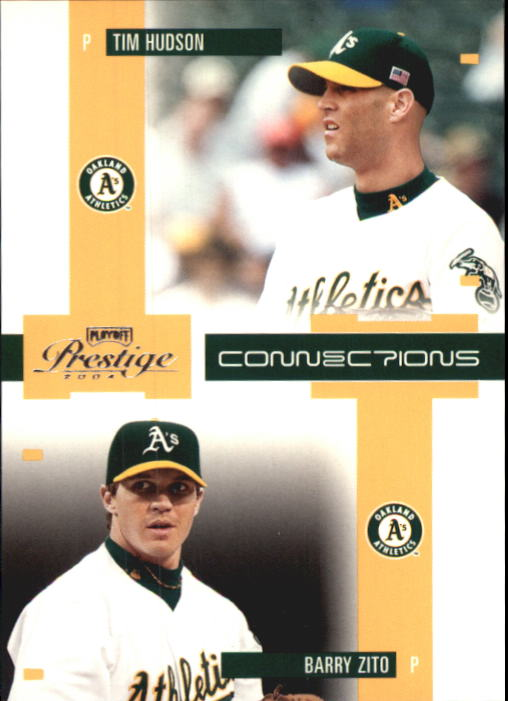 2004 Playoff Prestige Connections #7 B.Zito/T.Hudson front image