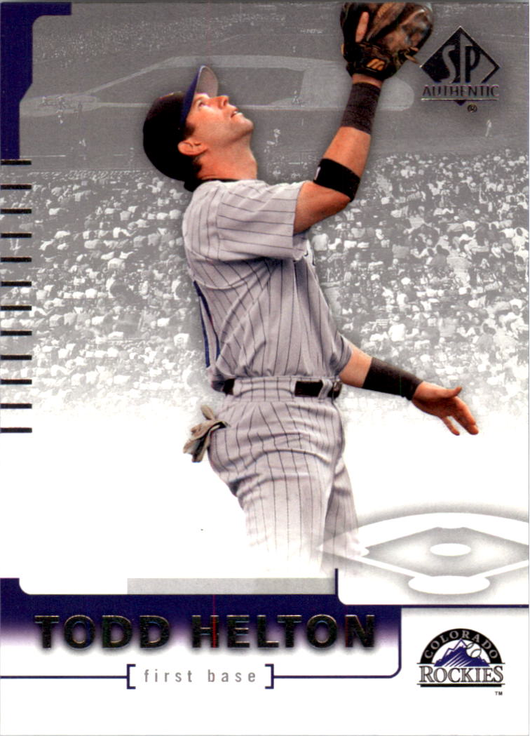 2004 SP Authentic #33 Todd Helton