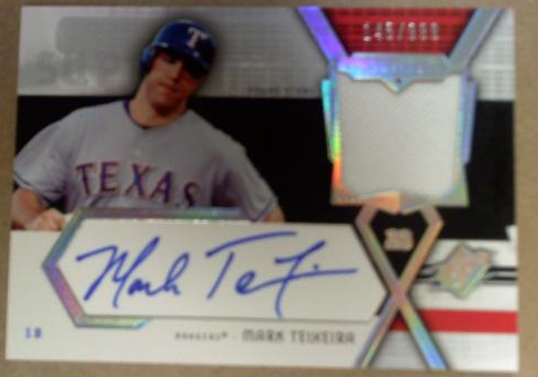 2004 SPx Swatch Supremacy Signatures Young Stars #MT Mark Teixeira