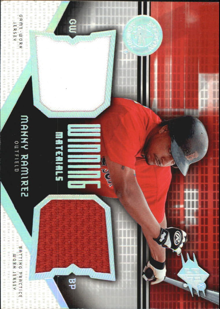 2004 SPx Winning Materials Dual Jersey #MR Manny Ramirez