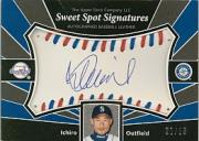 2004 Sweet Spot Signatures Red-Blue Stitch #IS Ichiro Suzuki/25
