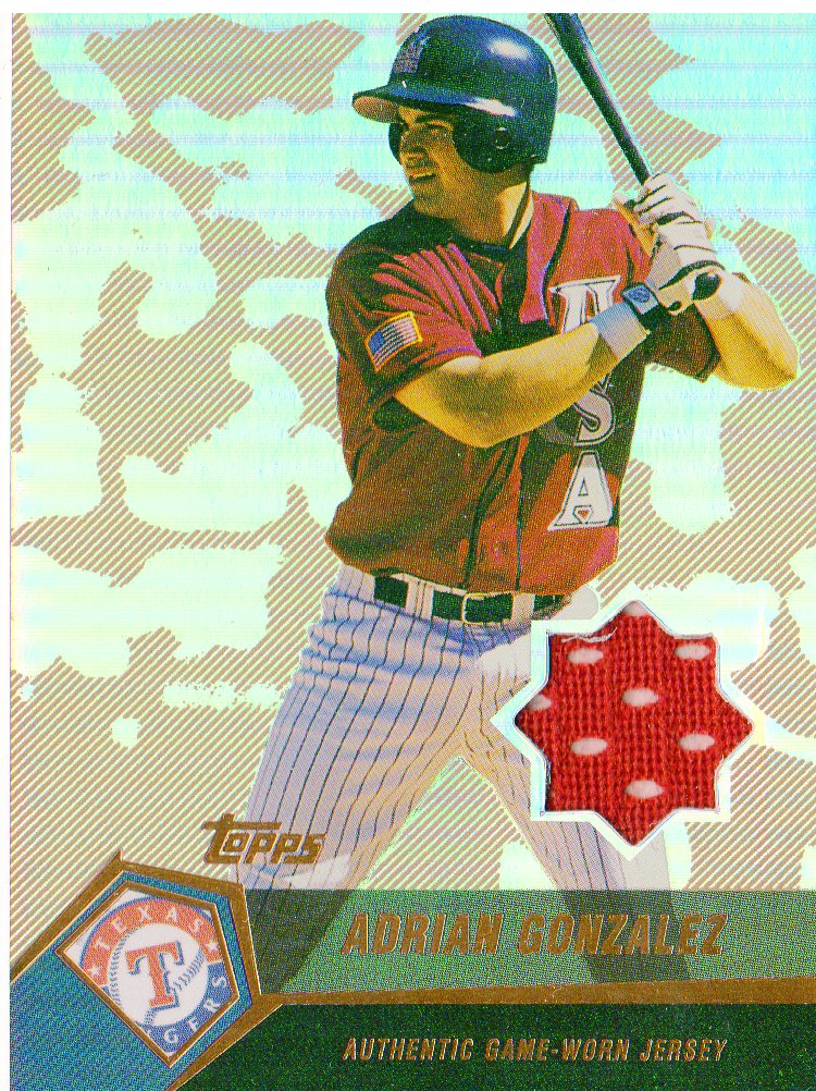 2004 Topps Clubhouse Copper Relics #AG Adrian Gonzalez Jsy