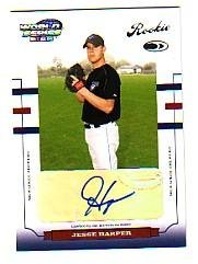 2004 Donruss World Series #185 Jesse Harper AU/1000 RC