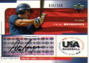 2004 USA Baseball 25th Anniversary Signatures Black Ink #BERG Peter Bergeron/360