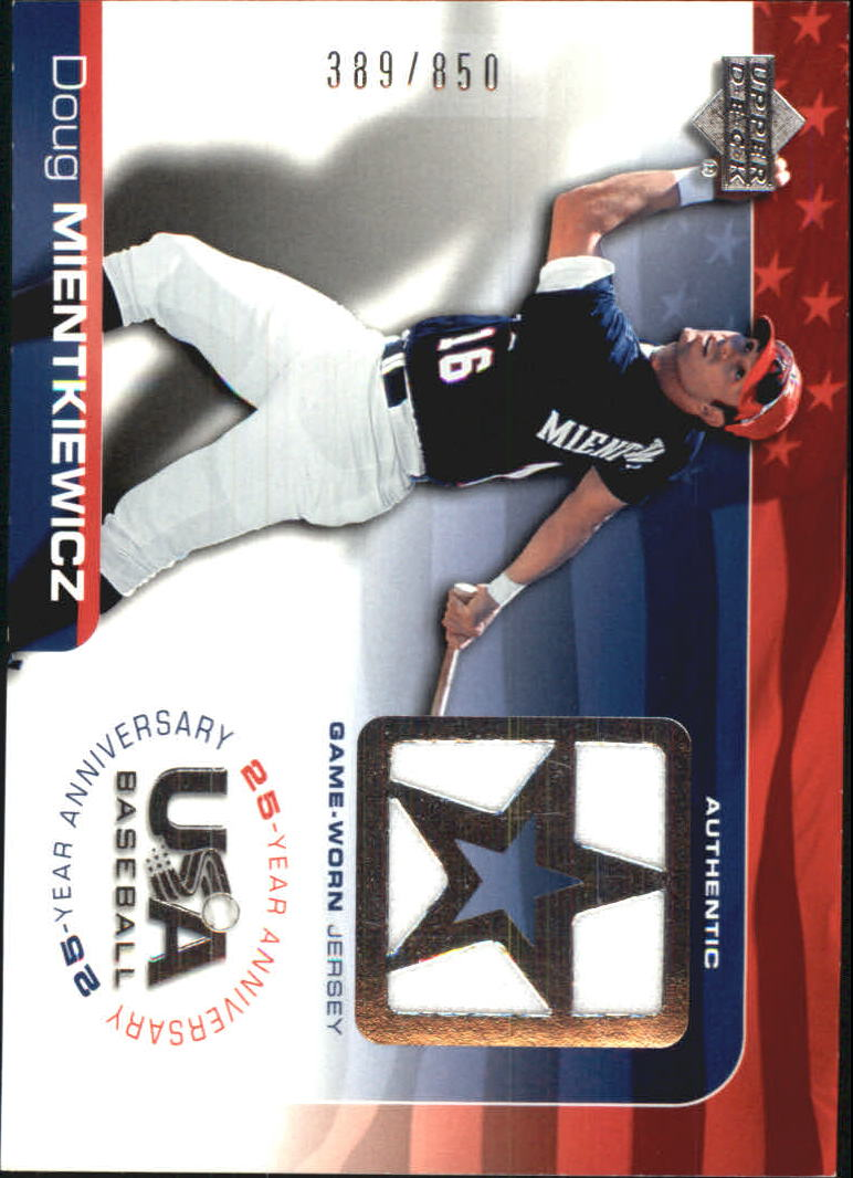 2004 USA Baseball 25th Anniversary Game Jersey #DM Doug Mientkiewicz/850