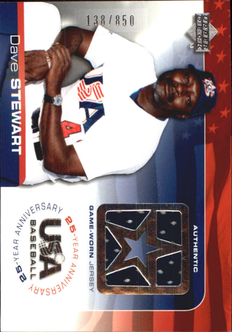 2004 USA Baseball 25th Anniversary Game Jersey #DS Dave Stewart/850