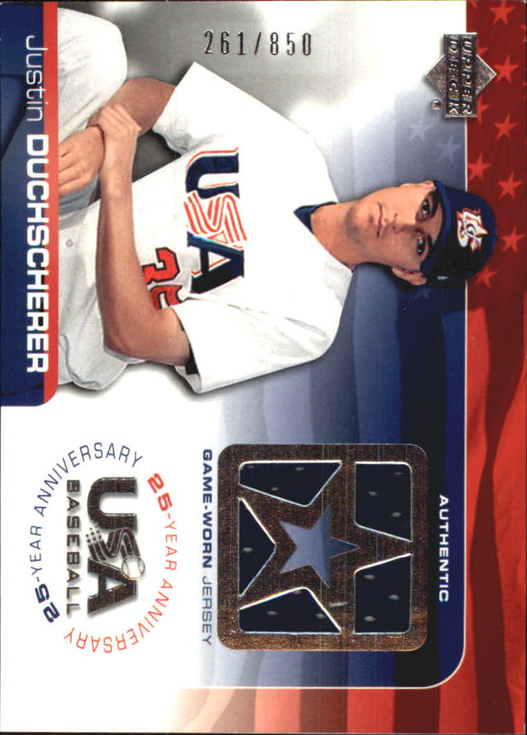2004 USA Baseball 25th Anniversary Game Jersey #JD Justin Duchscherer/850