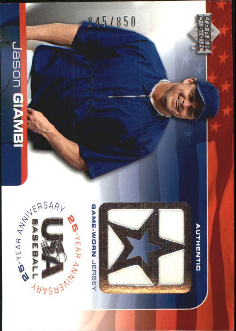 2004 USA Baseball 25th Anniversary Game Jersey #JG Jason Giambi/850