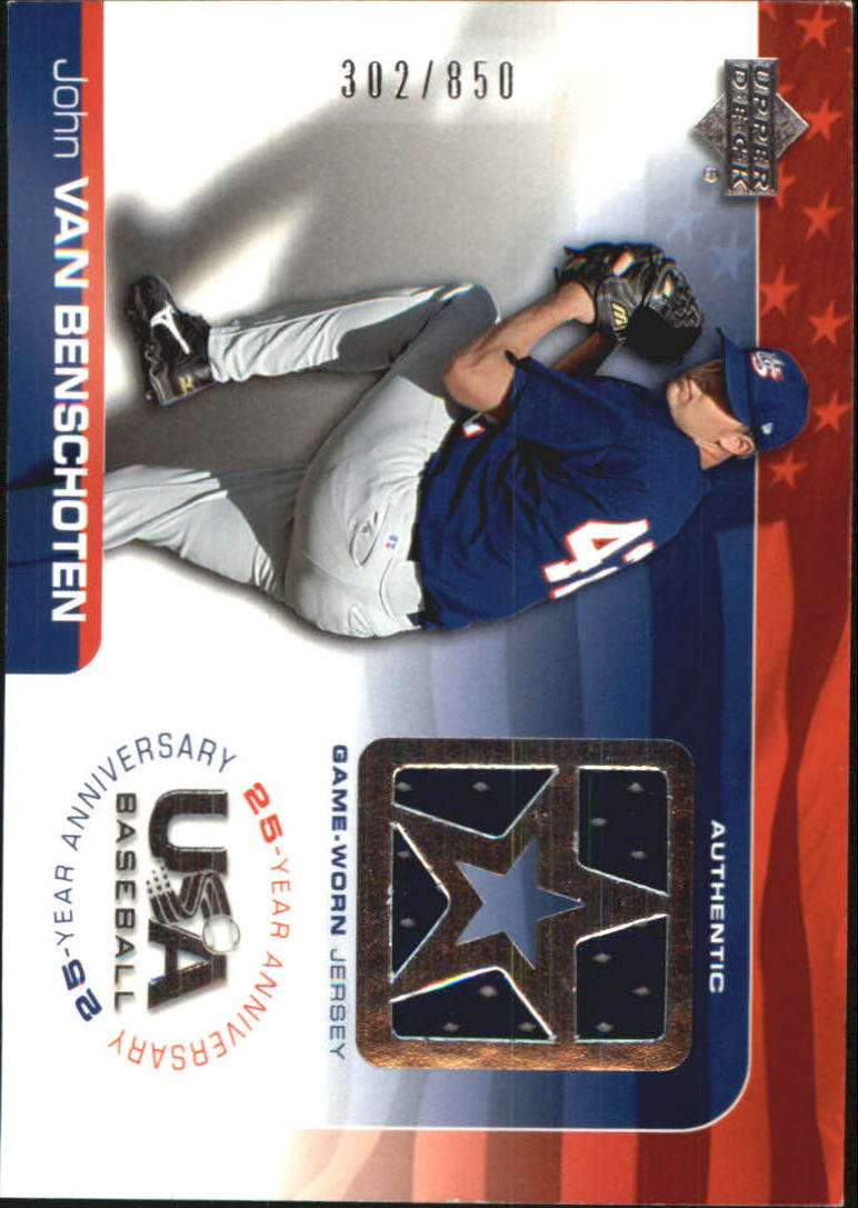 2004 USA Baseball 25th Anniversary Game Jersey #JV John VanBenschoten/850