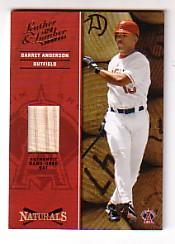 2004 Leather and Lumber Naturals Bat #2 Garret Anderson/250