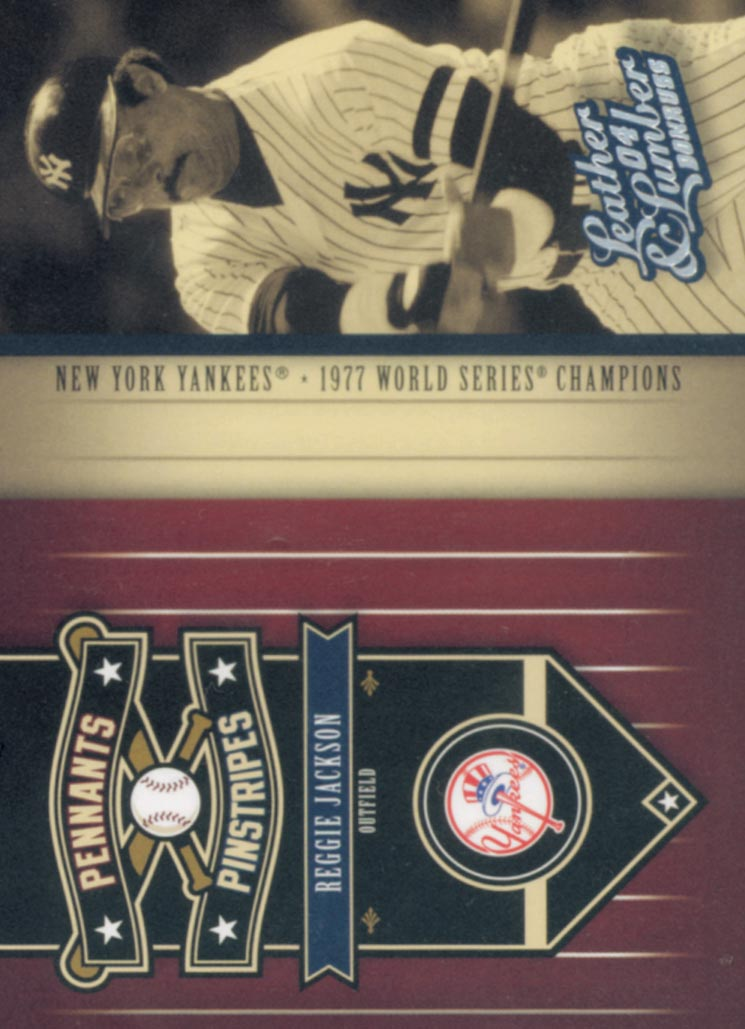 2004 Leather and Lumber Pennants/Pinstripes #1 Reggie Jackson