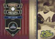 2004 Leather and Lumber Pennants/Pinstripes Gold #7 Curt Schilling