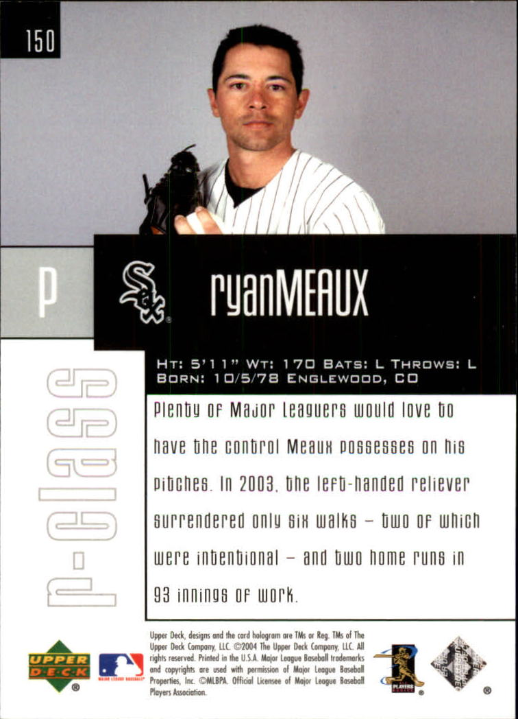 2004 Upper Deck r-class #150 Ryan Meaux TC RC back image