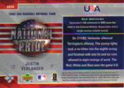 2004 Upper Deck National Pride #5 Justin Verlander back image