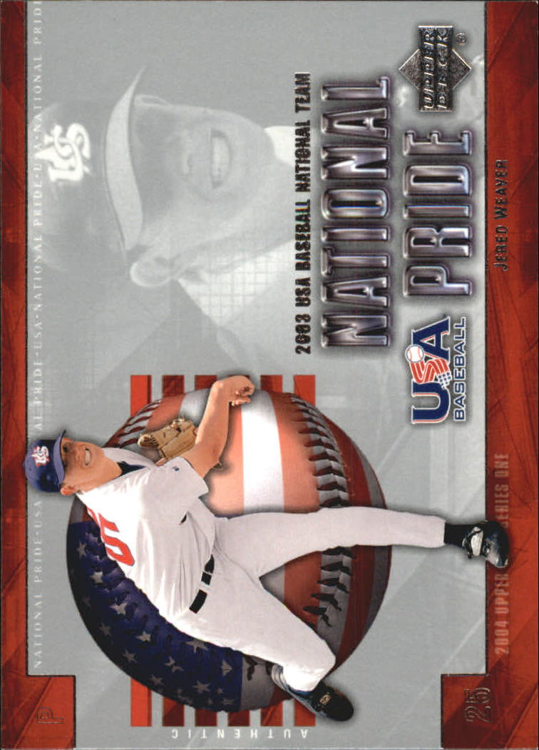 2004 Upper Deck National Pride #6 Jered Weaver