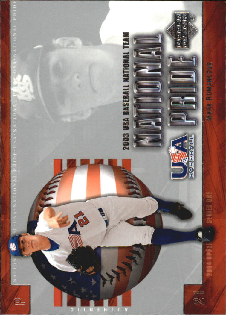 2004 Upper Deck National Pride #9 Mark Romanczuk