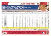 2004 Topps #1 Jim Thome back image