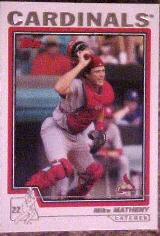 2004 Topps #6 Mike Matheny