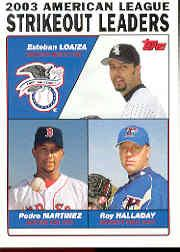 2004 Topps #342 Loaiza/Pedro/Halladay LL