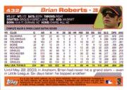 2004 Topps #432 Brian Roberts back image