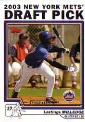 2004 Topps #680 Lastings Milledge DP RC front image