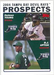 2004 Topps #692 B.Upton/D.Young