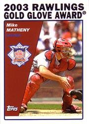 2004 Topps #706 Mike Matheny GG
