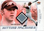 2004 Ultra Hitting Machines Jersey Silver #AD Adam Dunn