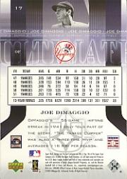 2004 Ultimate Collection #17 Joe DiMaggio back image
