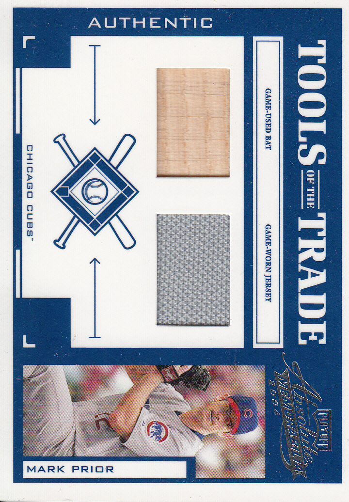 2004 Absolute Memorabilia Tools of the Trade Material Combo #91 M.Prior A Bat-Jsy/250