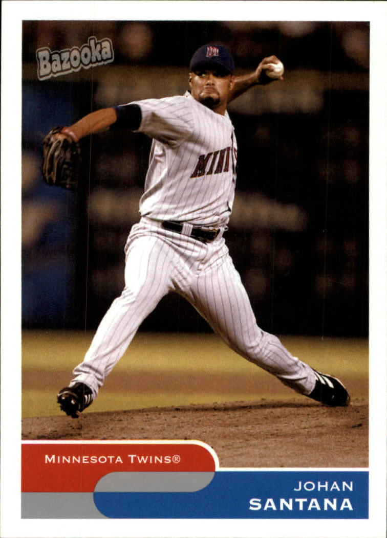 2004 Bazooka #159A Johan Santana Both Feet