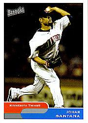 2004 Bazooka #159B Johan Santana One Foot