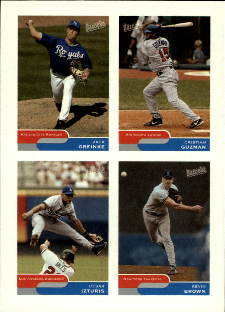 2004 Bazooka 4 on 1 Sticker #32 Greinke/C.Guz/Iztur/K.Brown