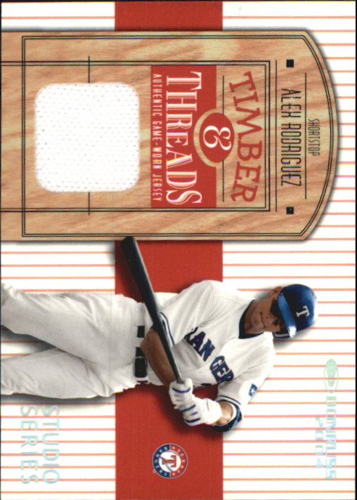2004 Donruss Timber and Threads #3 Alex Rodriguez White Jsy