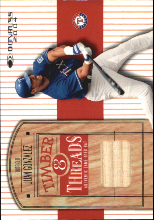 2004 Donruss Timber and Threads #28 Juan Gonzalez Bat
