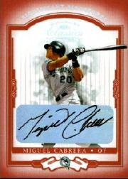 2004 Donruss Classics Significant Signatures Red #32 Miguel Cabrera/100