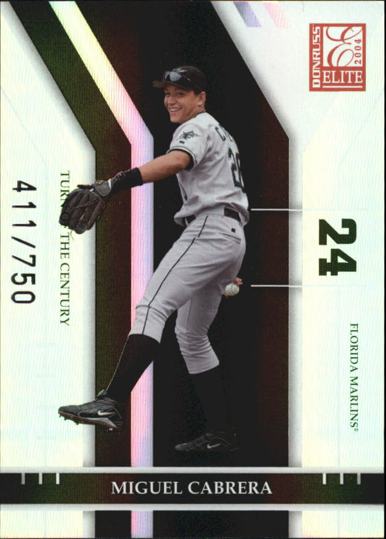 2004 Donruss Elite Turn of the Century #99 Miguel Cabrera