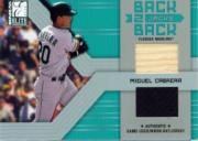 2004 Donruss Elite Back 2 Back Jacks Combos #8 Miguel Cabrera Bat-Jsy/50