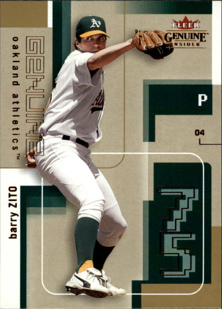 2004 Fleer Genuine Insider #49 Barry Zito