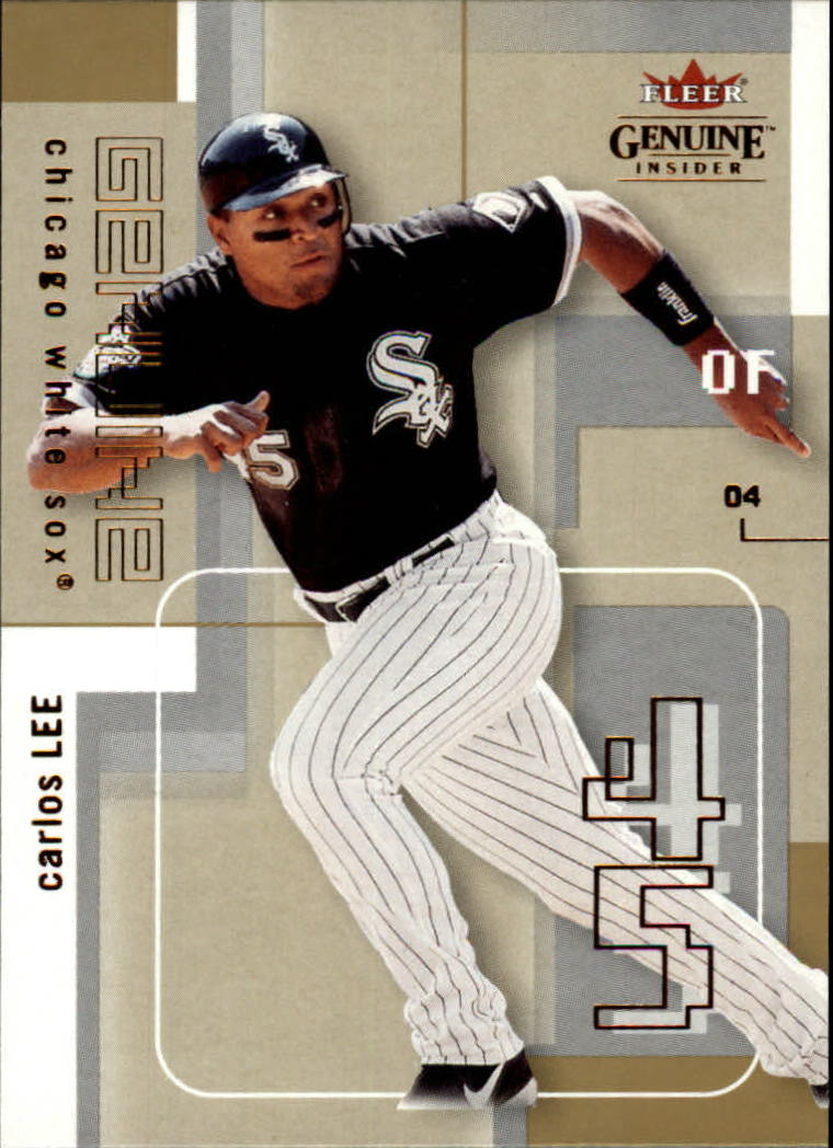 2004 Fleer Genuine Insider #54 Carlos Lee