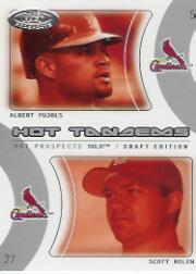 2004 Hot Prospects Draft Tandems #12 A.Pujols/S.Rolen