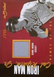 2004 Fleer InScribed Names of the Game Material Copper #CR Cal Ripken Jsy