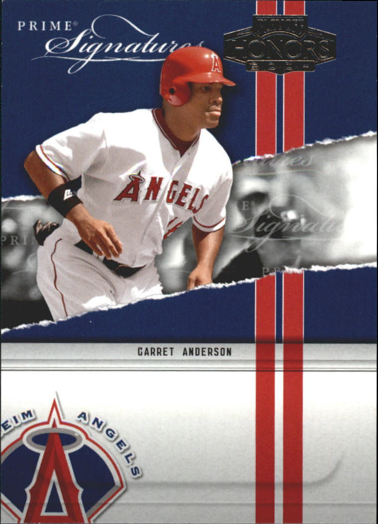 2004 Playoff Honors Prime Signature Insert #1 Garret Anderson