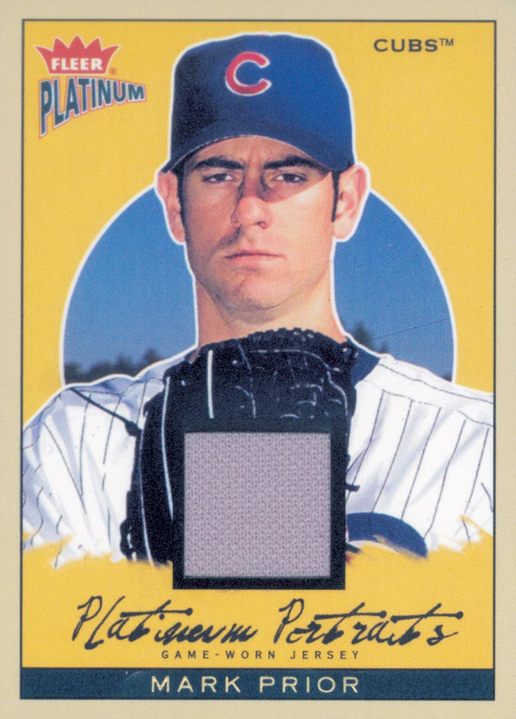 2004 Fleer Platinum Portraits Game Jersey #MP Mark Prior SP
