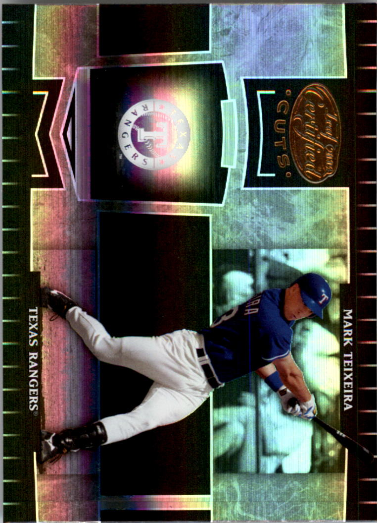 2004 Leaf Certified Cuts #187 Mark Teixeira