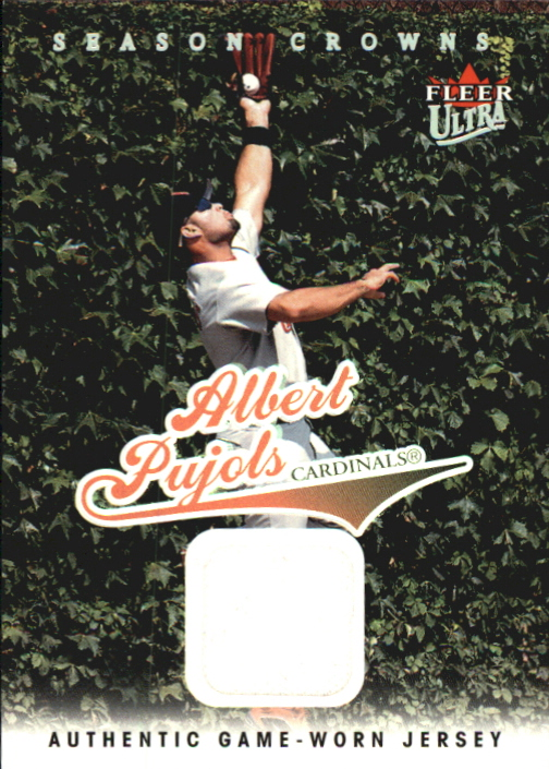 2004 Ultra Season Crowns Game Used #71 Albert Pujols Jsy
