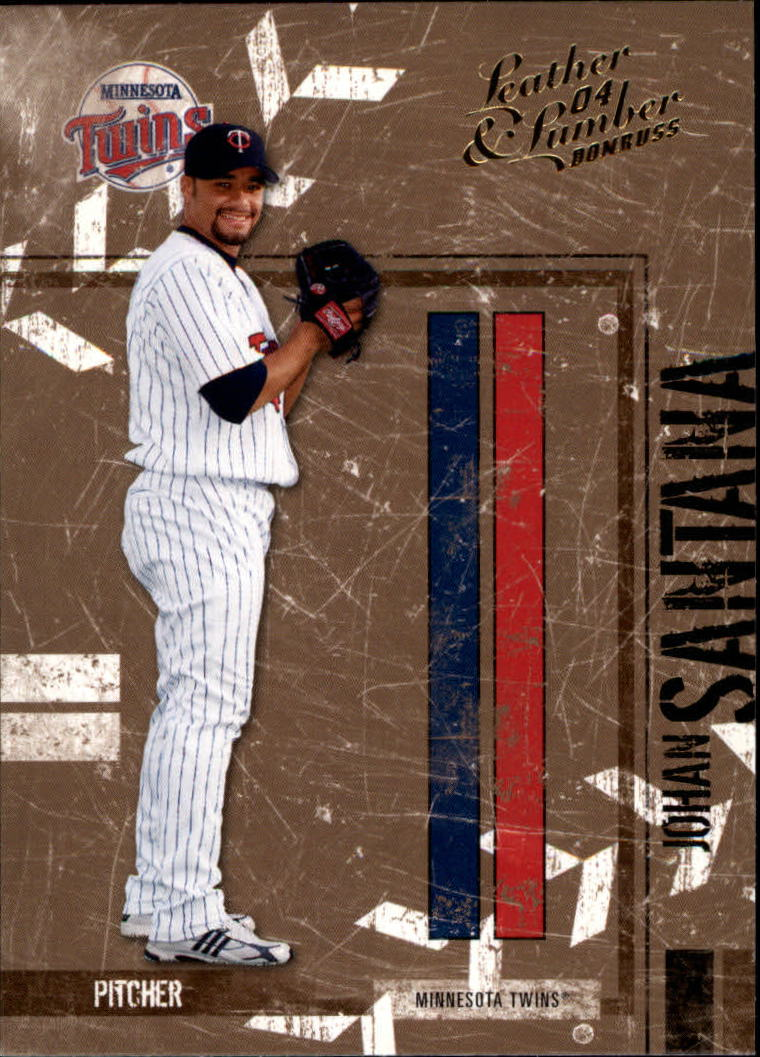 2004 Leather and Lumber #81 Johan Santana front image