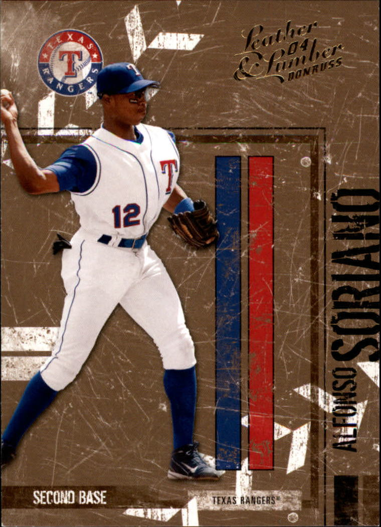 2004 Leather and Lumber #142 Alfonso Soriano