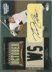 2004 Donruss World Series October Heroes Signature Material #13 Miguel Cabrera Jsy/100