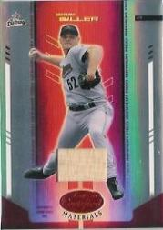 2004 Leaf Certified Materials Mirror Bat Red #189 Wade Miller/250